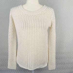 Flying Tomato Ivory Open Knit Sweater Small